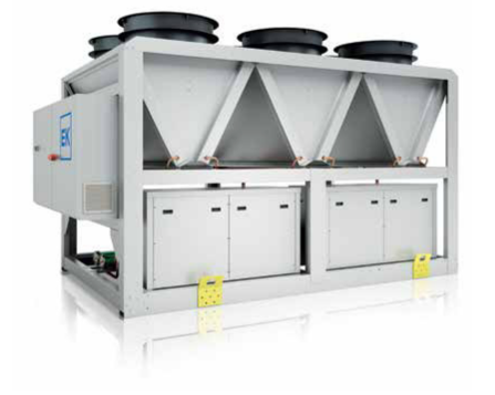 Multi-scroll air cooled liquid chillers – R410A EKS/HE